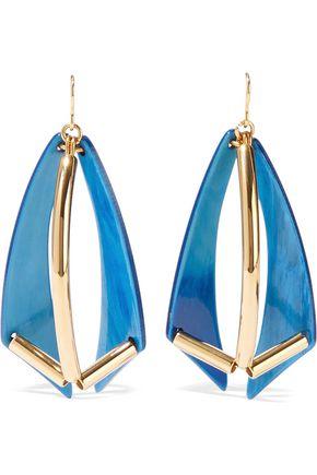 MARNI Gold-tone acetate earrings