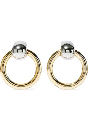 KENNETH JAY LANE Silver and gold-tone earrings
