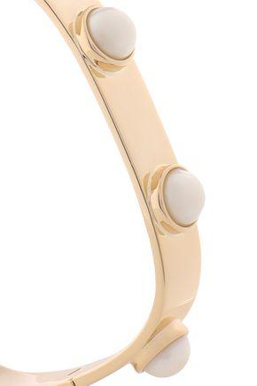 TORY BURCH Gold-tone faux pearl bracelet