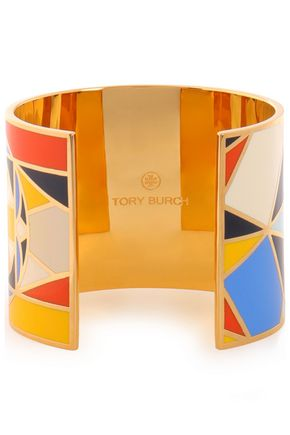 TORY BURCH Gold-tone enamel bracelet