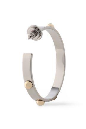 TORY BURCH Silver and gold-tone hoop earrings