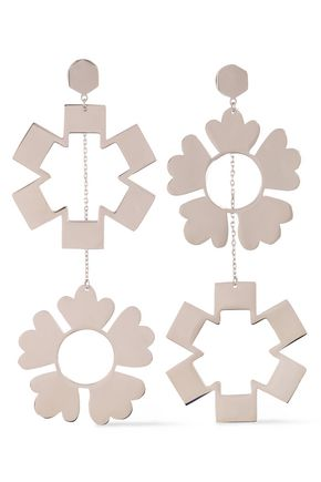 TORY BURCH Silver-tone earrings