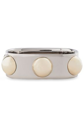 TORY BURCH Silver and gold-tone bangle