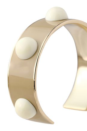 TORY BURCH Gold-tone, resin and enamel cuff