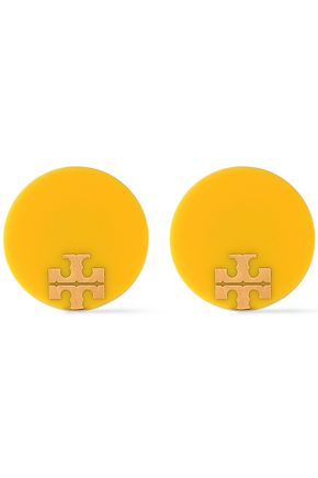 TORY BURCH Gold-tone resin earrings