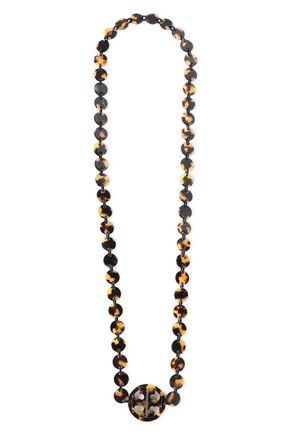 TORY BURCH Tortoiseshell acetate necklace