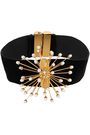 ELLERY Rainbow Wheels velvet, gold-plated and pearl choker