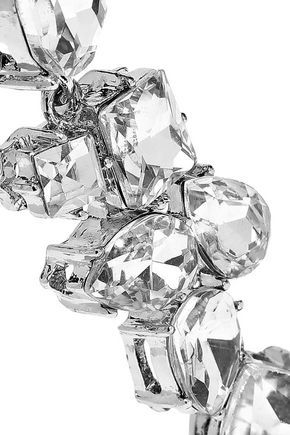 KENNETH JAY LANE Silver-tone crystal earrings