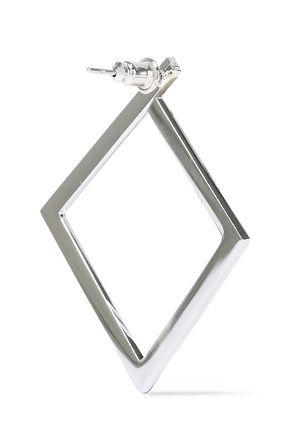 KENNETH JAY LANE Silver-tone hoop earrings