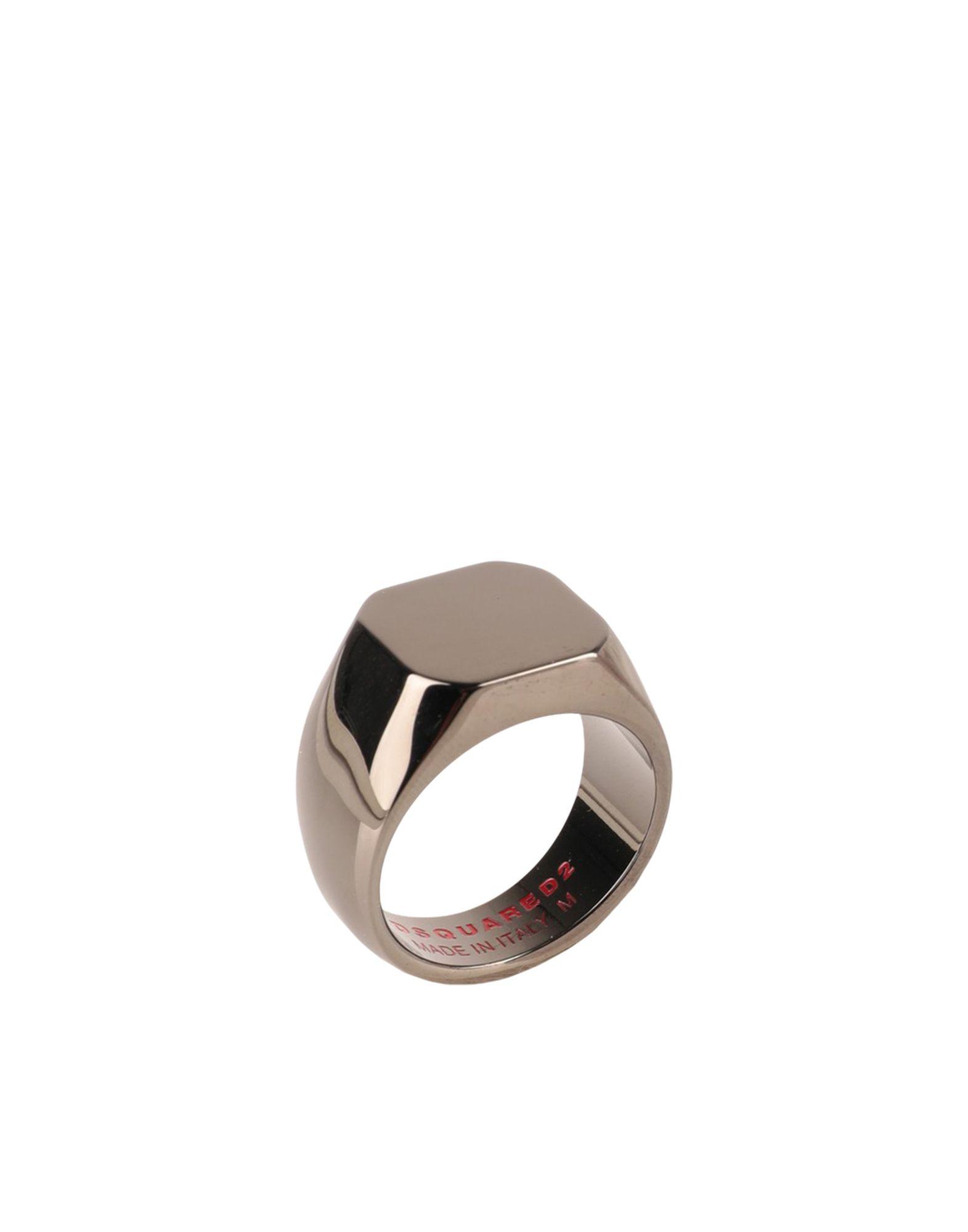 《セール開催中》DSQUARED2 メンズ 指輪 スチールグレー S 金属