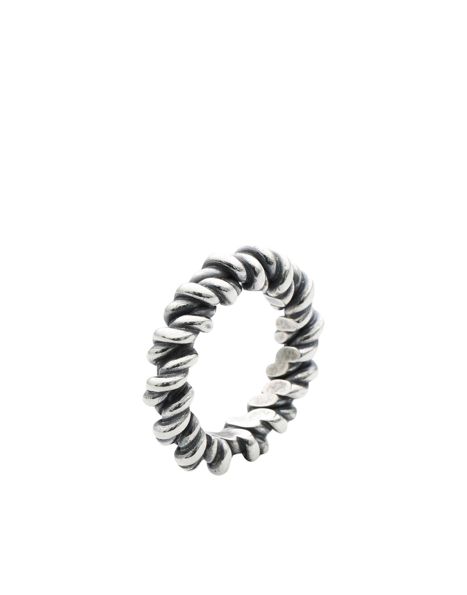 《期間限定 セール開催中》UGO CACCIATORI メンズ 指輪 シルバー 7.5 シルバー925/1000 TORCETTO RING