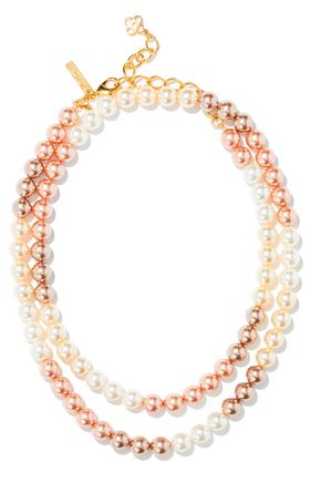 OSCAR DE LA RENTA Faux pearl necklace