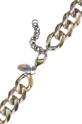 IOSSELLIANI Burnished gold-tone crystal necklace