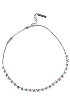 MARC JACOBS Silver-tone crystal necklace
