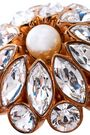 STELLA McCARTNEY Gold-tone, crystal and faux pearl ring