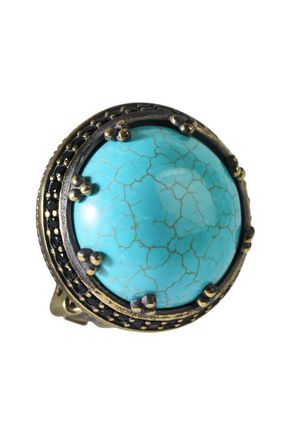 IOSSELLIANI Gold-tone stone clip earrings