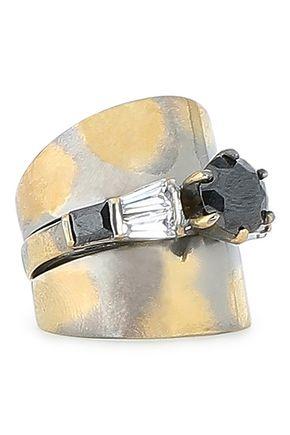 IOSSELLIANI Burnished gold-tone crystal ring