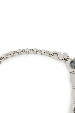 IOSSELLIANI Silver-tone, agate and crystal choker