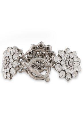 OSCAR DE LA RENTA Burnished gold-tone crystal bracelet