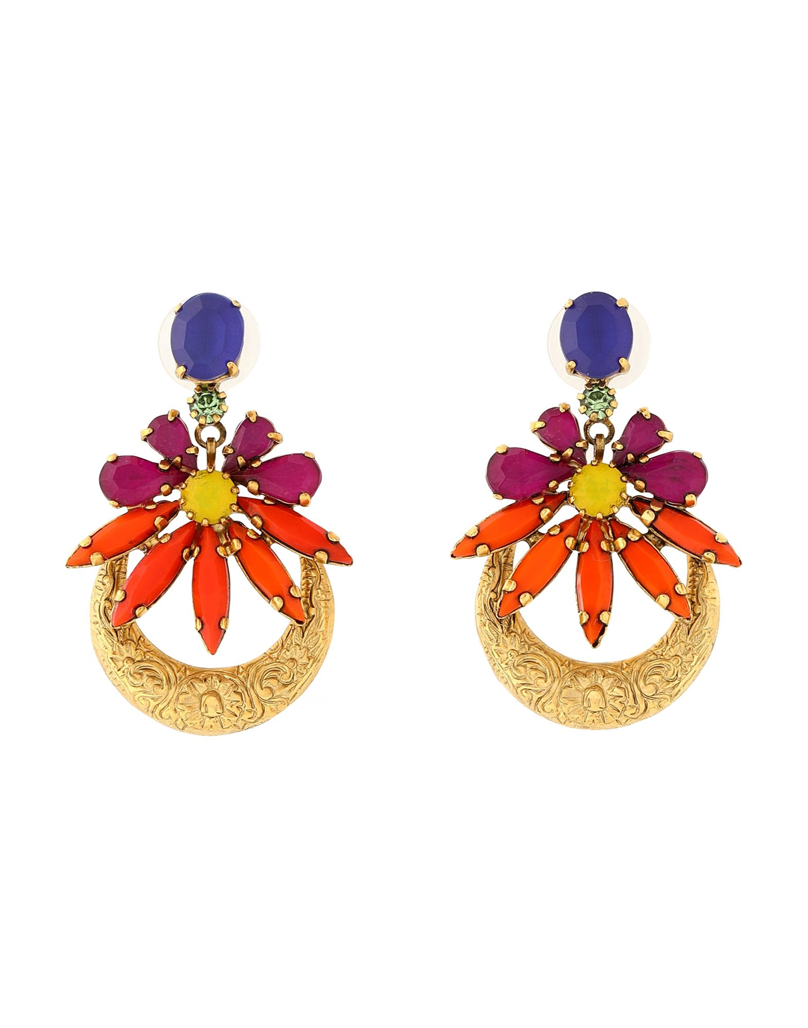 Elizabeth Cole Earrings In Orange