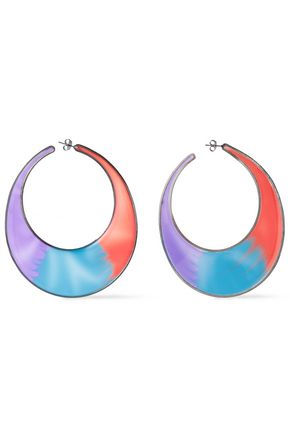 MISSONI Silver-tone enamel earrings