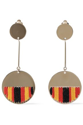 MISSONI Gold-tone crochet clip earrings