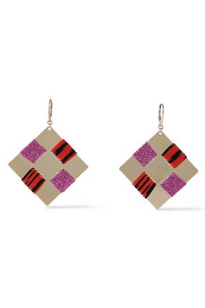 MISSONI Gold-tone crochet earrings