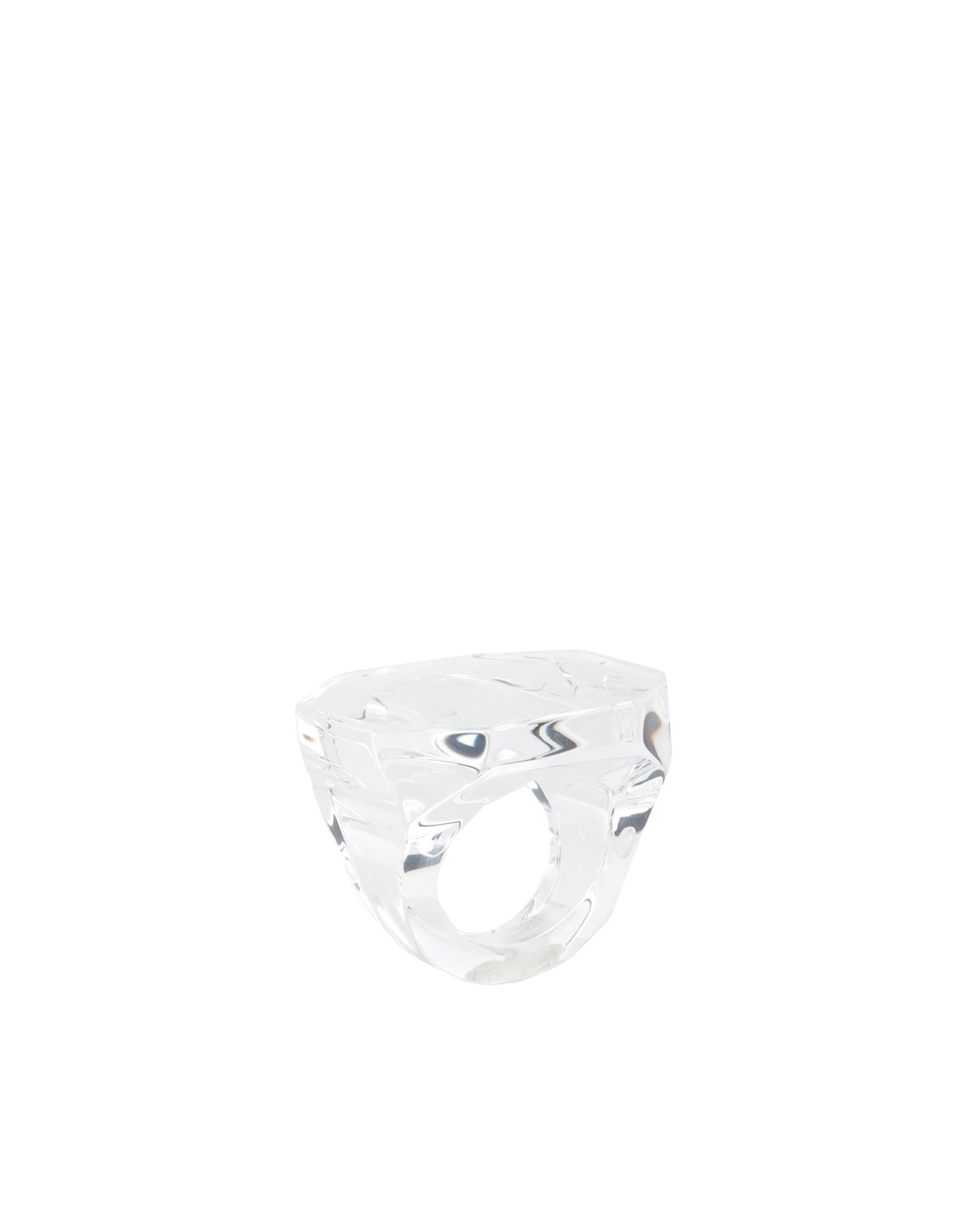 《セール開催中》MAISON MARGIELA レディース 指輪 クリア S 真鍮/ブラス 100%