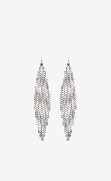SMOKING mesh earrings in metal and crystals