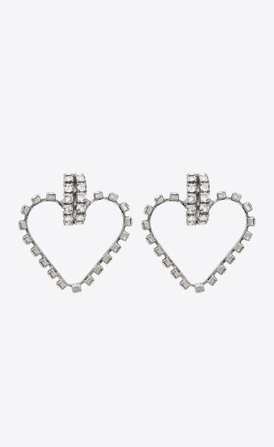 SMOKING love earrings in metal and crystals