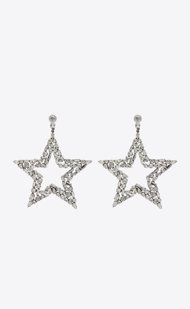 SMOKING star earrings in metal and crystals