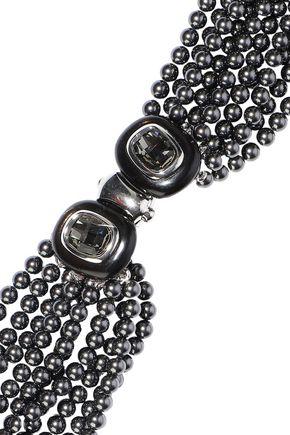 OSCAR DE LA RENTA Gold-tone faux pearl necklace