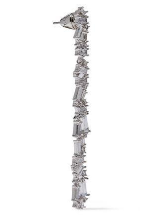 NOIR JEWELRY Silver-tone crystal earrings