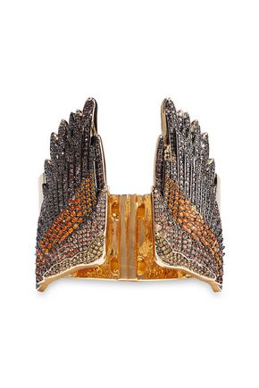 NOIR JEWELRY Gold-tone crystal cuff