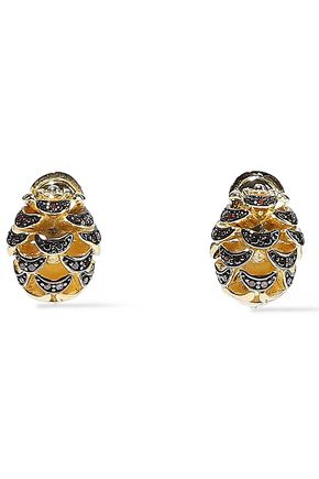 NOIR JEWELRY 14-karat gold-plated crystal earrings