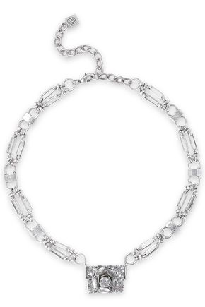DANNIJO Edelweiss silver-tone crystal necklace