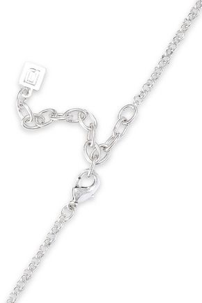 DANNIJO Stein oxidized silver-plated glass necklace