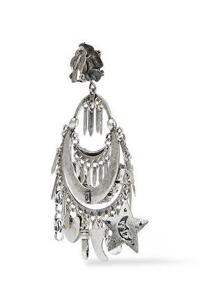DANNIJO Freesia oxidized silver-plated crystal clip earrings