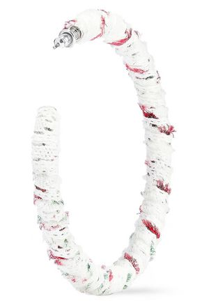 DANNIJO Eloise frayed woven hoop earrings