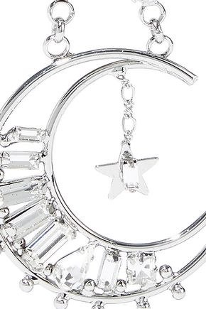 DANNIJO Grianne silver-plated crystal earrings