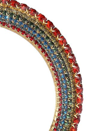 ELIZABETH COLE 24-karat gold-plated crystal choker