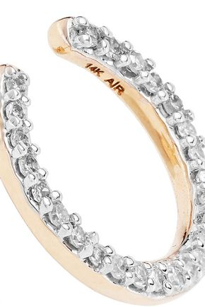 ADINA REYTER 14-karat gold diamond earrings
