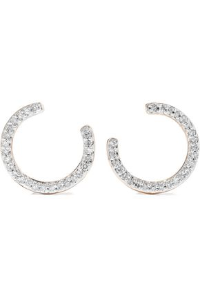 ADINA REYTER 14-karat gold diamond earrings