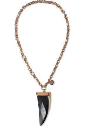 BEN-AMUN 24-karat gold plated stone necklace