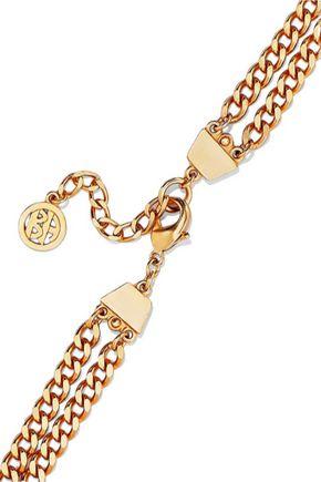 BEN-AMUN 24-karat gold-plated stone necklace