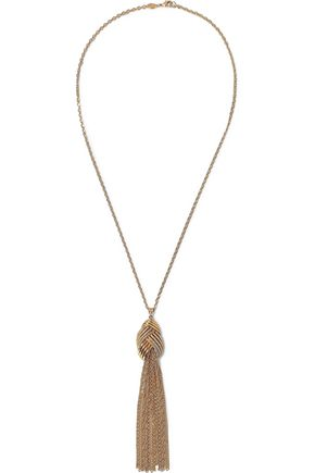 BEN-AMUN Gold-tone tassel necklace