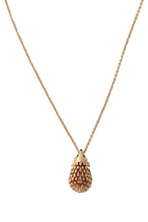 KATE SPADE New York Gold-tone, crystal and enamel necklace