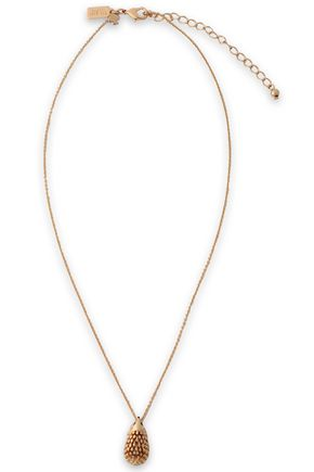 KATE SPADE NEW YORK | Kate Spade New York Gold-Tone, Crystal And Enamel Necklace | Goxip