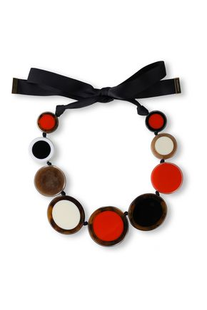 KATE SPADE New York Acetate and grosgrain necklace