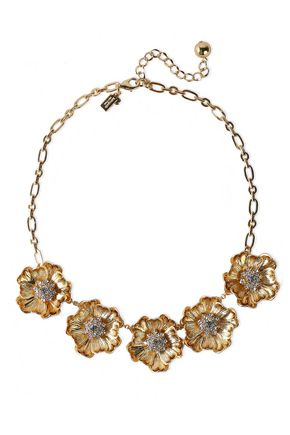 KATE SPADE New York Gold-tone crystal necklace